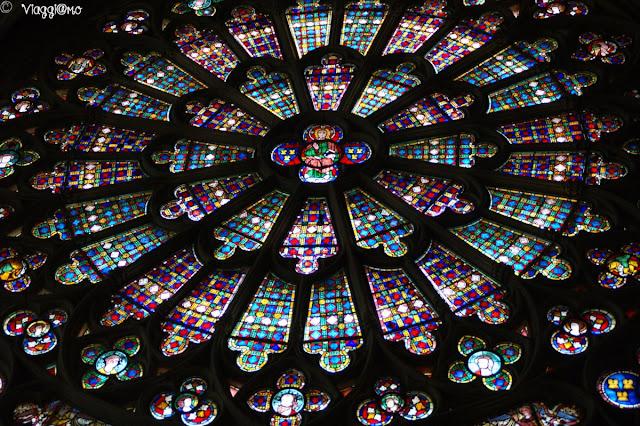 Splendido rosone della Basilica di Saint Nazaire