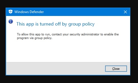 Cara Mengatasi Windows Defender Turned Off by Group Policy