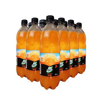 5 Alive Pulpy Orange Fruit Drink 85cl x 12 On white background