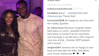 Fans React To Tiwa Savage And TeeBillz's First Picture Together After Messy Drama