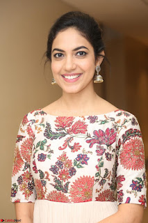 Ritu Varma smiling face Cream Anarkali dress at launch of OPPO New Selfie Camera F3 ~  Exclusive 056.JPG