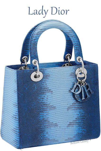 Blue shaded lizard Lady Dior bag #brilliantluxury