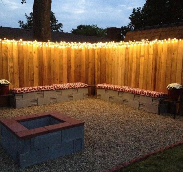 Simple Fence Line Christmas Light Backyard