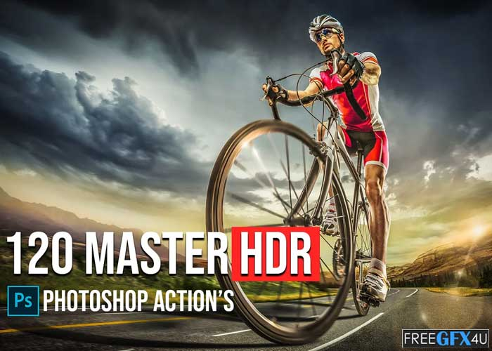 120 Master HDR Photoshop Actions Collection