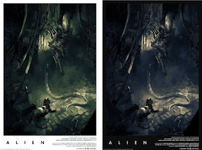 Alien Screen Print by Karl Fitzgerald x Grey Matter Art