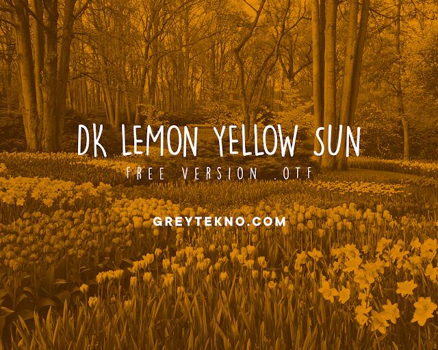Download Font DK Lemon Yellow Sun Gratis