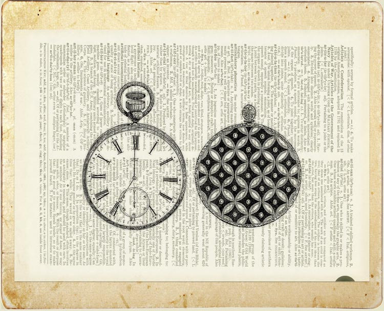 04-1851-Pocket-Watch-Jean-Cody-Vintage-Dictionary-Page-Art-Prints-www-designstack-co
