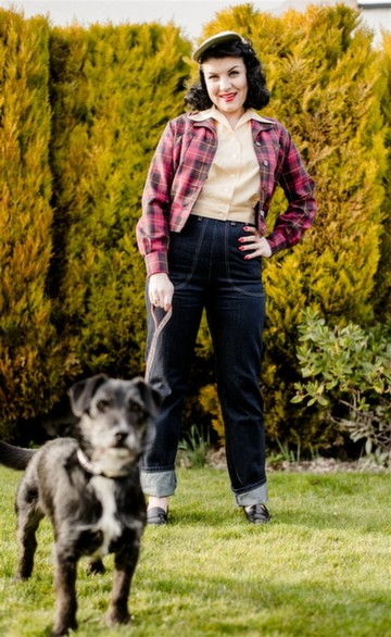 Pinup Picks - Cherry Tartan Shirt-Jac - Freddies of Pinewood