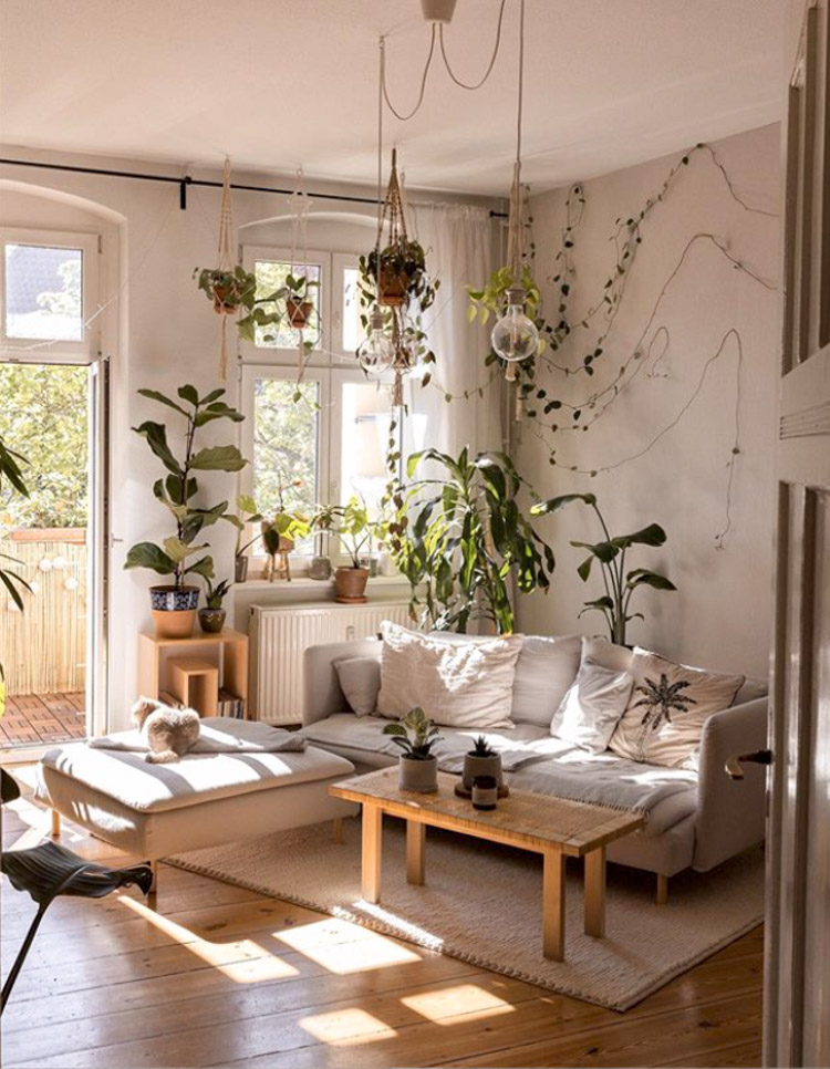 A Small Relaxed Bohemian Home Filled With Plants