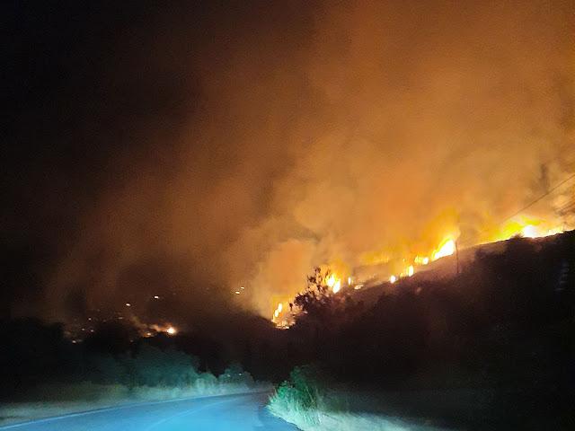 Π. Νίκας: Η Περιφέρεια συνδράμει πάση δυνάμει την Πυροσβεστική για την φωτιά στη Ανατολική Μάνη