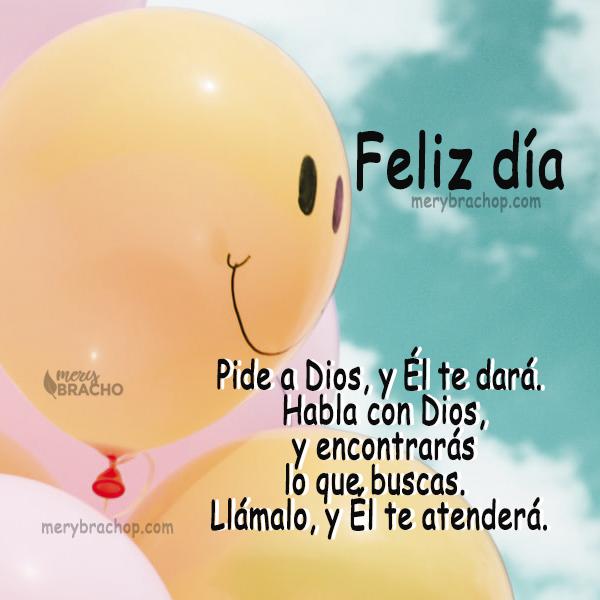 imagen de globos con feliz dia para niños con versiculos biblicos pide a Dios y se te dara