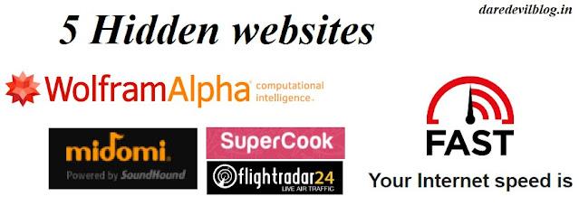 5 Hidden websites