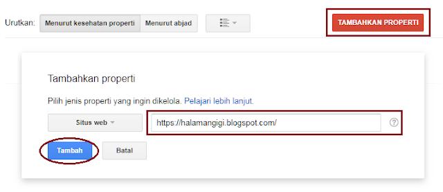 Cara Mengaitkan Situs Blog Ke Search Console