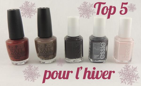 top 5 vernis hiver