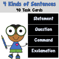 4 Kinds of Sentences Task Cards