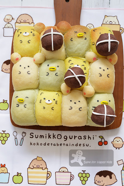 Sumikko Gurashi hot cross buns