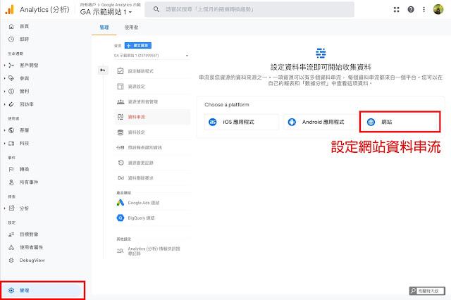 【網站 SEO】如何設定新版 Google Analytics 4 property?(網站、部落格都適用) - 為了要收集網站資料,我們必須先建立資料串流