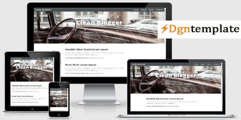 cleanblog Free Responsive Blogger Template-dgntemplate