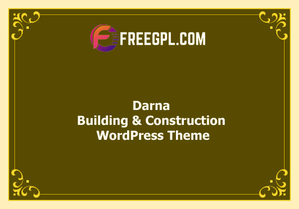 Darna – Building & Construction WordPress Theme Nulled Download Free