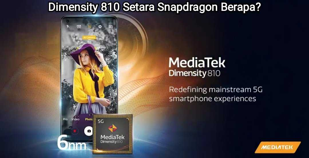 mediatek dimensity 810 setara snapdragon