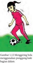 Jelaskan Pengertian Menggiring Bola : jelaskan, pengertian, menggiring, Analisis, Keterampilan, Gerak, Menggiring, Menggunakan, Punggung, Bagian, Dalam