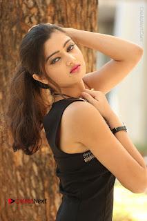 Actress Poojitha Pallavi Naidu Stills in Black Short Dress at Inkenti Nuvve Cheppu Movie Platinum Disc Function  0092.JPG