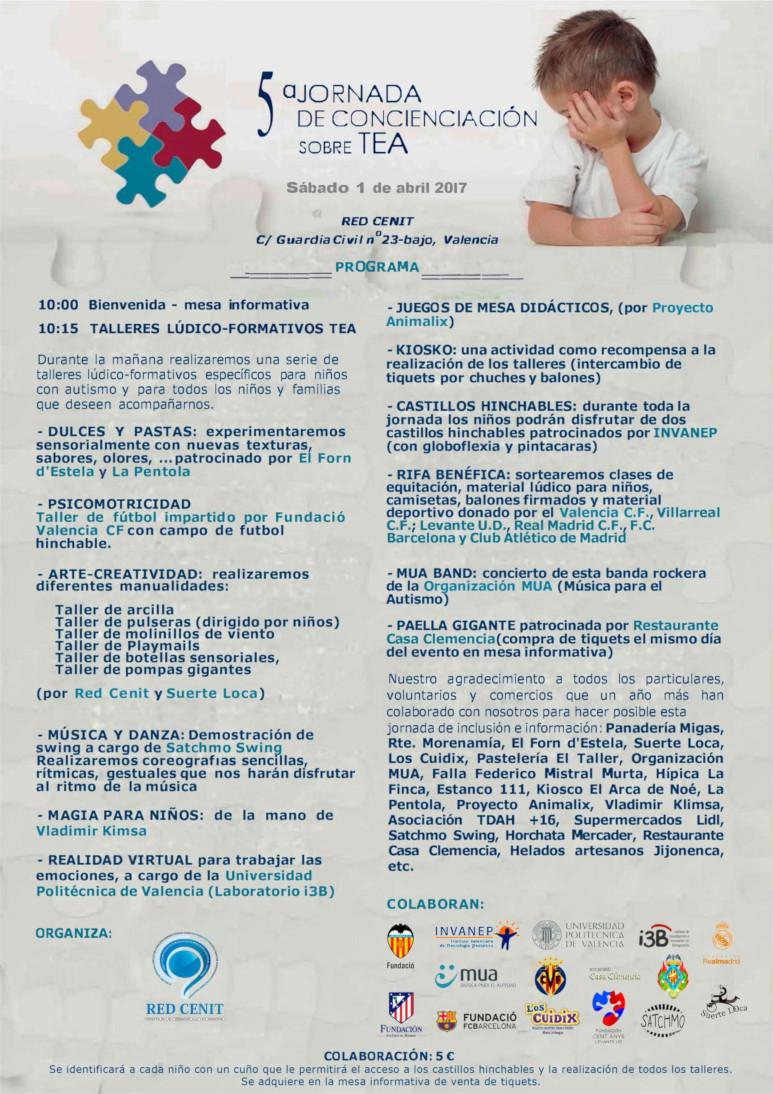 5ª Jornada Lúdica de Concienciación sobre Autismo, 1 abril 2017, Valencia