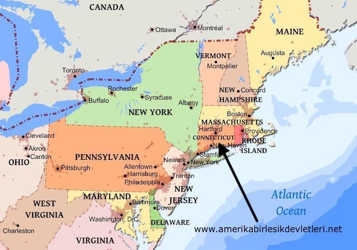ABD'nin kuzeydoğusundaki eyaletler