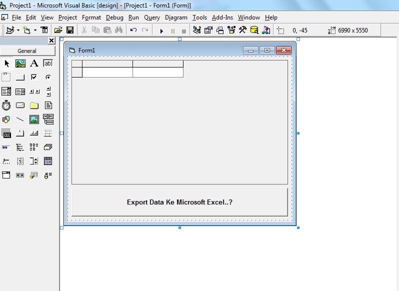 Export Database Access Ke Excel Visual Basic 6 (VB6)
