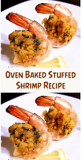 Most Delicious Oven Baked Stuffed Shrimp