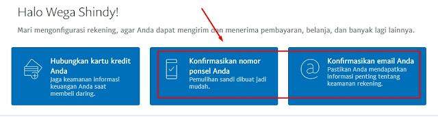 Verifikasi Nomor Ponsel dan Email