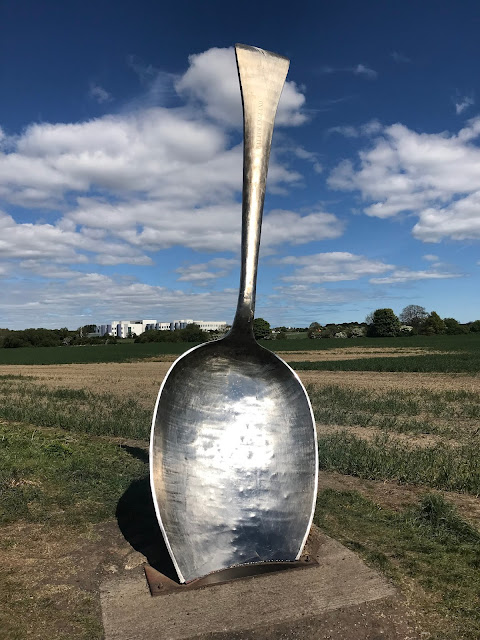 giant silver spoon in a field cramlington