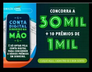 Cadastrar Promoção CPFL Energia 2021 Conta Digital Dinheiro na Mão