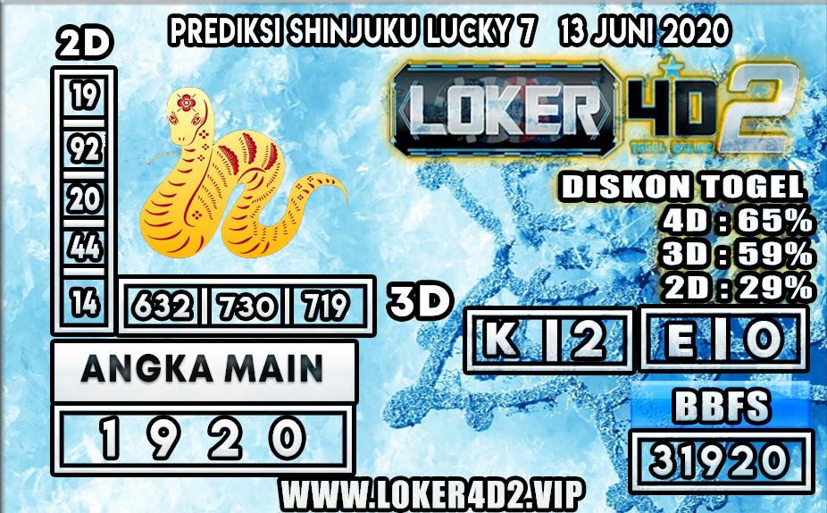 PREDIKSI TOGEL SHINJUKU LUCKY 7 LOKER4D2 13 JUNI 2020