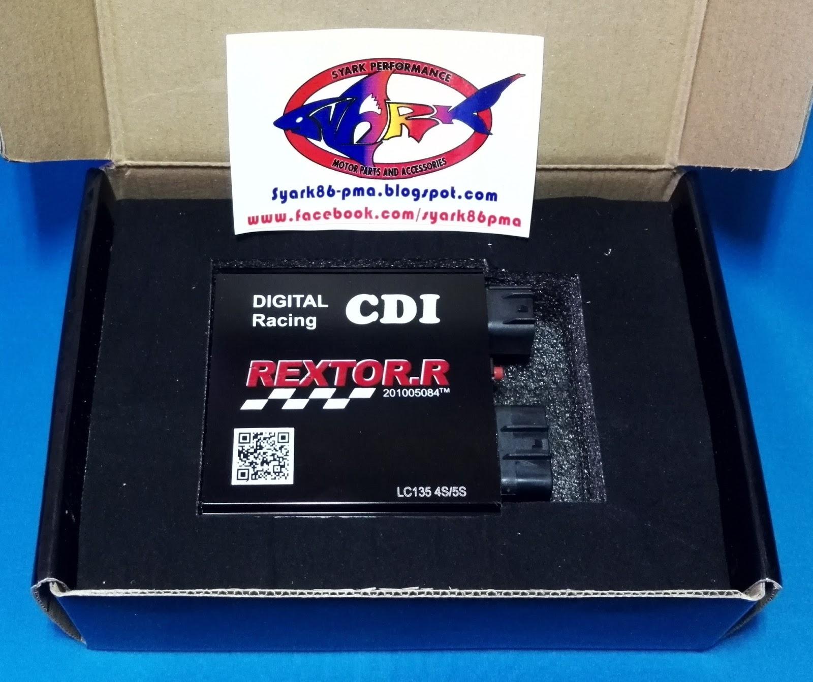 New REXTOR.R Racing CDI Unit (Digital - Adjustable) Yamaha 135LC/ Jupiter  MX/ Spark RX 135/ Yamaha 135LC ES/ Sniper MX 135/ Exciter 135/ Exciter RC/  X-1R