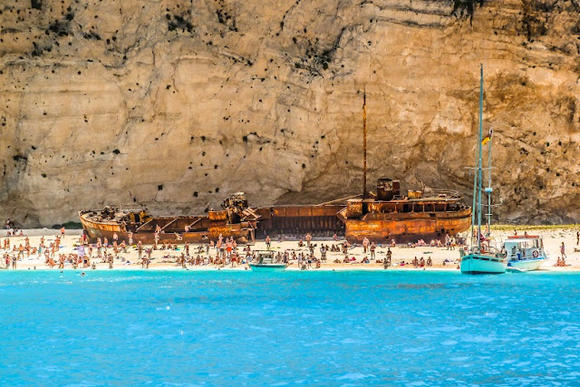 Enjoy the boat trip to Smugglers Cove beach, Zante