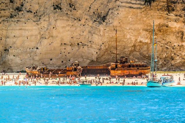 Enjoy the boat trip to Smugglers Cove beach, Zante
