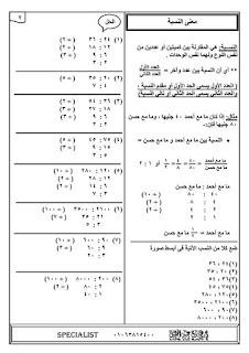 مذكرة الاوائل في الرياضيات للصف السادس الابتدائي الترم الاول للاستاذ طارق عبد الجليل