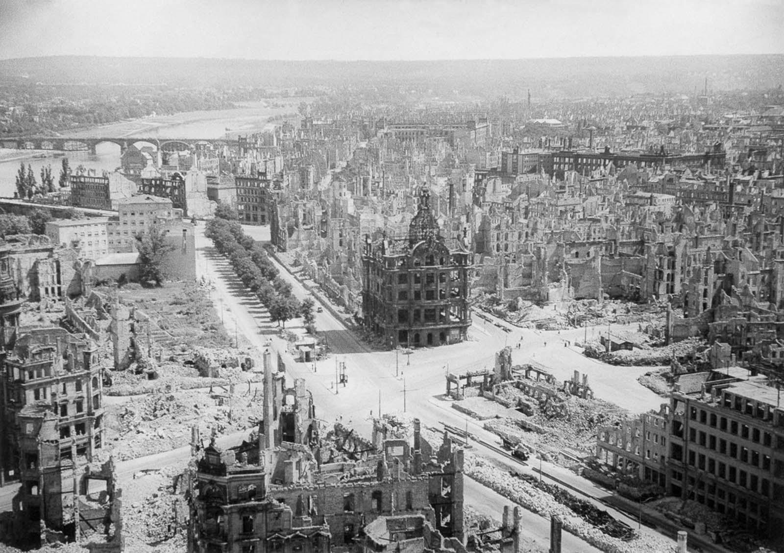 Dresden in March 1945.