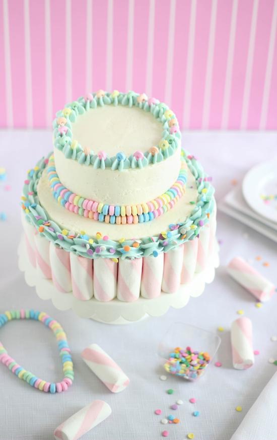 Making A Swirled Cake