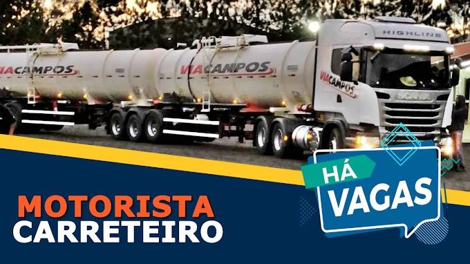 Via Campos Transportes abre vagas para Motorista Carreteiro