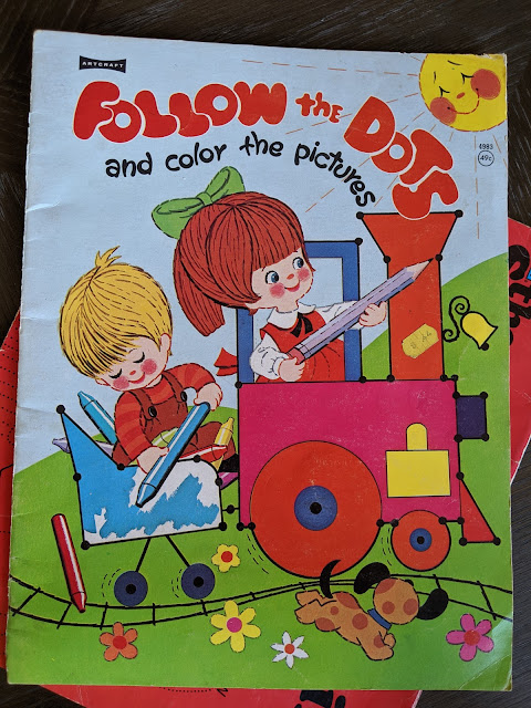 image of vintage children's activity book