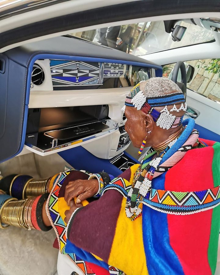 Renowned Cultural Icon Dr. Esther Mahlangu Paints Unique Ndebele-Inspired Artwork For Rolls-Royce Phantom