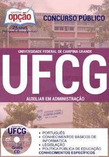 Apostila Concurso UFCG (PB) para o cargo Assistente em Administração. Grátis CD