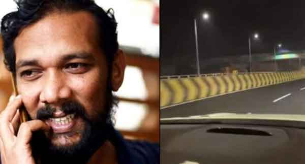 News, Kerala, Kochi, Road, Actor, Facebook, Video, Social Media, Entertainment, 'He would have been hit in the head and died, Sabumon with car over Vyttila flyover; Video