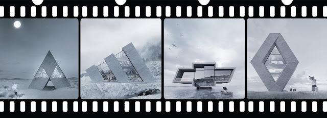 wamhouse studio imagine une série de maisons en forme de logos célèbres