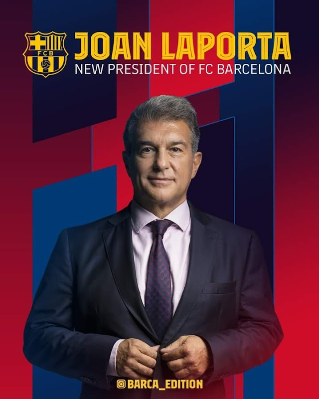 OFFICIAL: Joan Laporta becomes barca new president