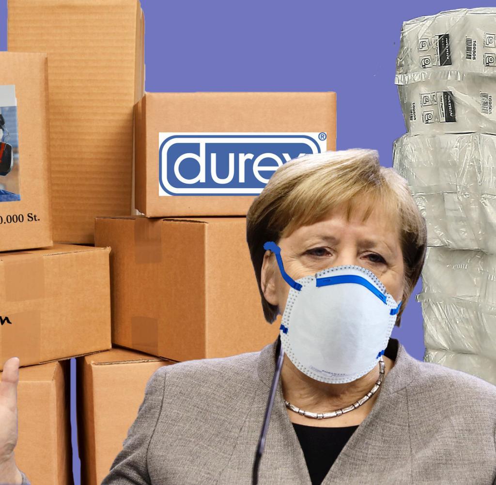 Merkel Mit Mundschutz