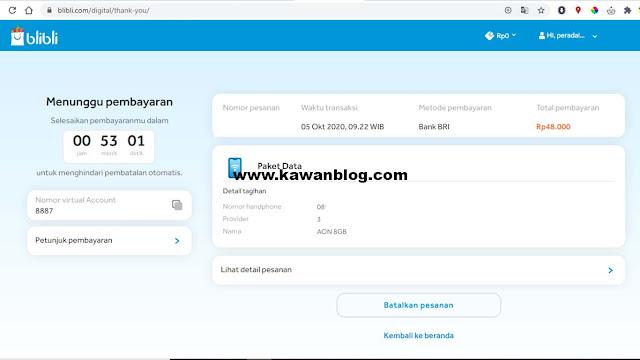 Cara Mudah Membeli Paket Data Internet di Bilibli.com - Cukup Bayar Lewat Transfer dirumah Aja