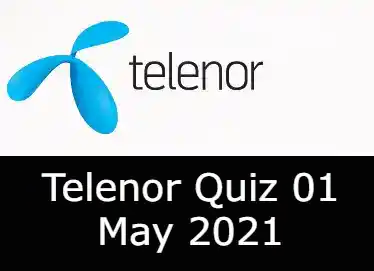 Telenor Quiz Today 1 May 2021 | Telenor Quiz Answers Today 1 May